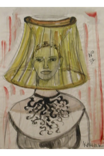 Muse 32, watercolor on paper, 32 by 22 in. Emilia Kallock 2002
