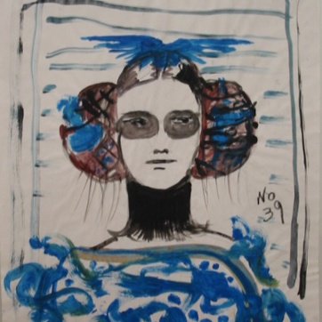 Muse 39, watercolor on paper, 32 by 22 in. Emilia Kallock 2002