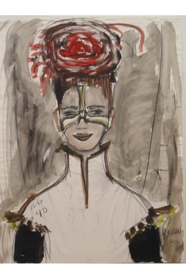 Muse 40, watercolor on paper, 32 by 22 in. Emilia Kallock 2002