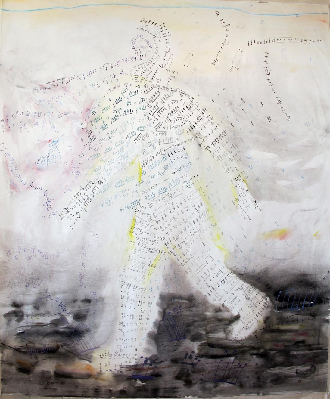 Oor, acrylic on canvas, 60 by 48 in. Emilia Kallock 2012