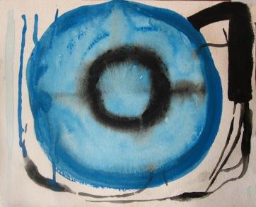 Peace Tree, watercolor on paper, 8 by 8 in. Emilia Kallock 2008