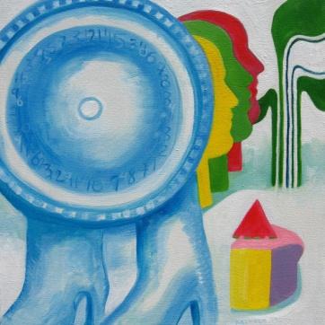 Clock Walk, oil on canvas 28 by 22 in. Emilia Kallock 2007