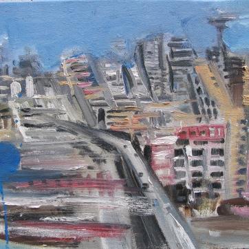 Seattle Waterfront, oil on canvas, 8 by 10 in. Emilia Kallock 2006