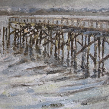Southworth Dock, oil on board, 7 by 8 in. Emilia Kallock 2006