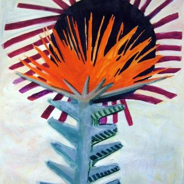 Spike Flower, watercolor on paper, 35 by 28 in. Emilia Kallock 2007