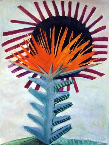 Spike Flower, acrylic on paper, 48 by 42 in. Emilia Kallock 2009