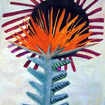 Spike Flower, acrylic on paper, 48 by 42 in. Emilia Kallock 2009