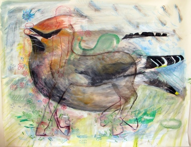 The Potential, acrylic and charcoal on paper, 42 by 50 in. Emilia Kallock 2012