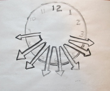 Time Expand, ink on paper, 14 by 14 in. Emilia Kallock 2013