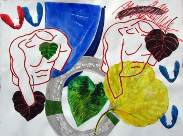 Torsos and Foliage, 26 by 34 in. Emilia Kallock 2008