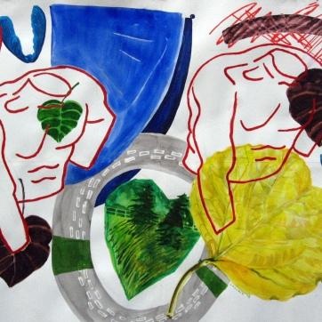 Torsos and Foliage, 26 by 34 in. Emilia Kallock 2008