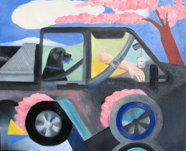Truck, oil on canvas, 14 by 22 in. Emilia Kallock 2007