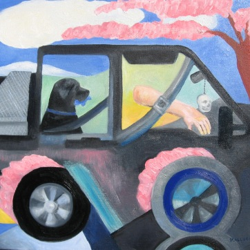 Truck, oil on canvas, 14 by 22 in. Emilia Kallock 2007