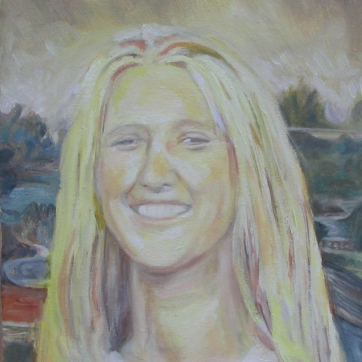 Mona Lisa Variation, oil on canvas, 18 by 12 in. Emilia Kallock 2005