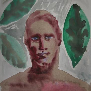 Watercolor Boys 1, watercolor on paper, 8 by 7 in. Emilia Kallock 2006