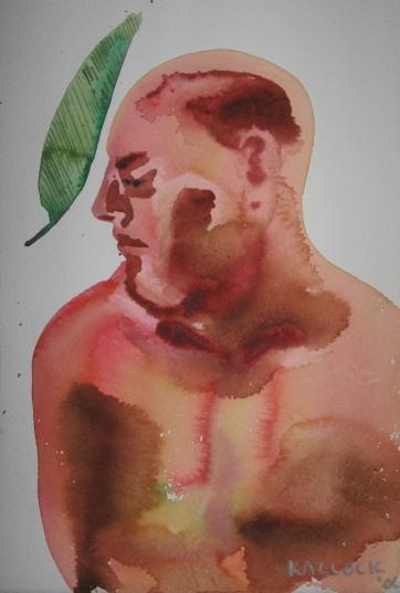 Watercolor Boys 4, watercolor on paper, 5 by 7 in. Emilia Kallock 2006