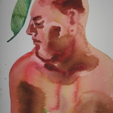 Watercolor Boys 4, watercolor on paper, 5 by 7 in. Emilia Kallock 2006