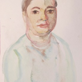 William, watercolor on paper, 10 by 6 in. Emilia Kallock 2013