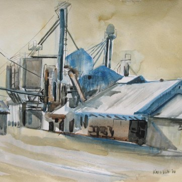 Feedplant, watercolor on paper, 18 by 24 in. Emilia Kallock 2008