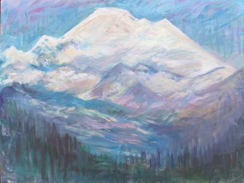 Mt. Baker, acrylic on canvas, 30 by 40 in. Emilia Kallock 2015