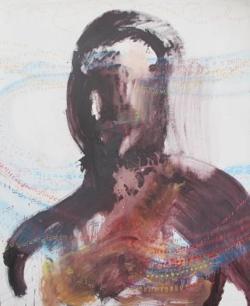 Music, acrylic on canvas, 72 by 60 in. Emilia Kallock 2015