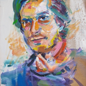 Portrait of a Man in Colors, acrylic on canvas, 13.5 x 11 in. Emilia Kallock 2015