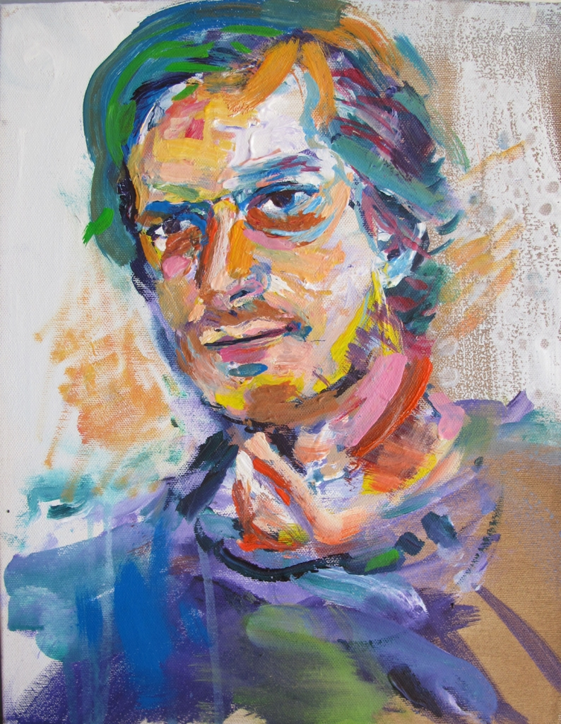 Luc, acrylic on canvas, 13.5 x 11 in.  Emilia Kallock 2015
