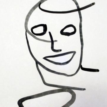 Line Sketch 1, watercolor on paper, 11 by 8 in. Emilia Kallock 2015