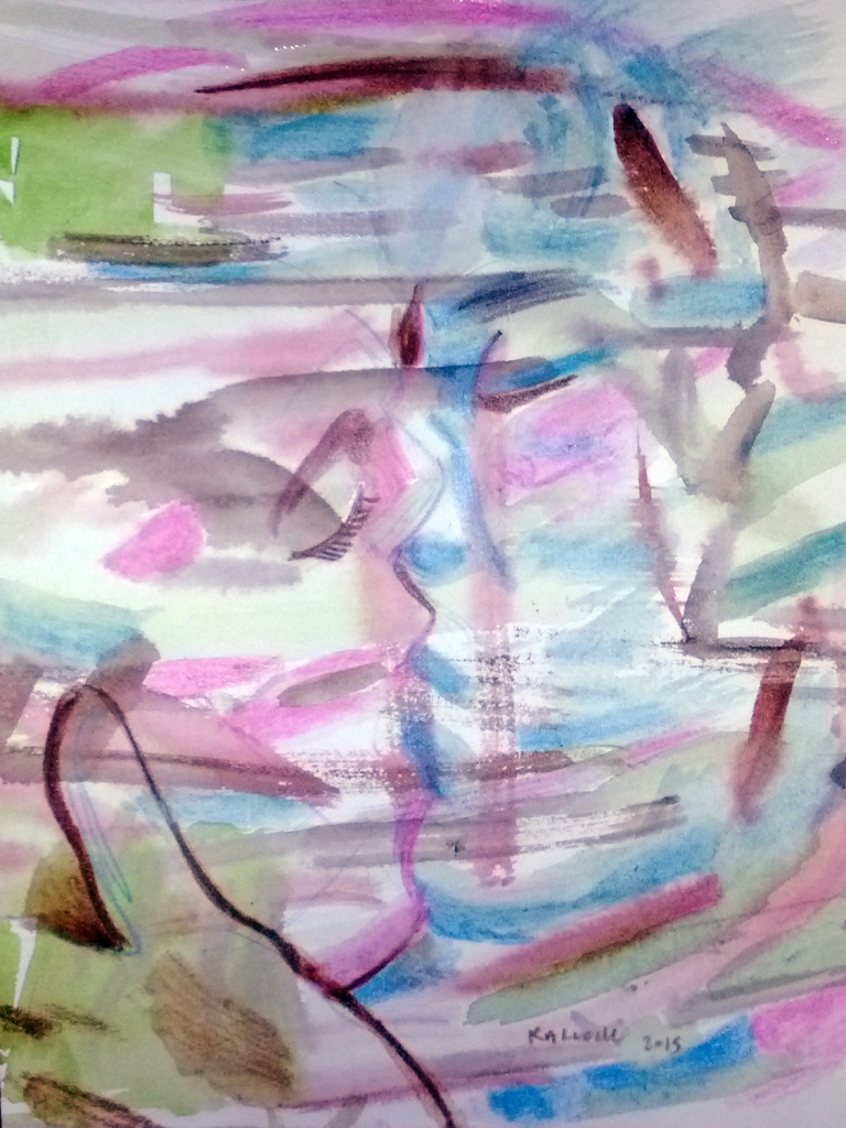 Untitled, watercolor on paper, 10  by 7 in. Emilia Kallock