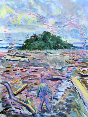 Turtle Island, oil on board, 20 by 16 in. Emilia Kallock 2016