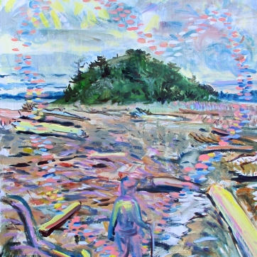 Turtle Island, oil on board, 20 by 16 in. Emilia Kallock 2016