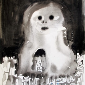 Despair 1, watercolor on paper 8 by 6.5 in. Emilia Kallock 2016