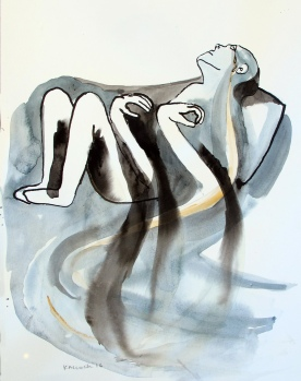 Despair 5, watercolor on paper, 8 by 6.5 in. Emilia Kallock 2016