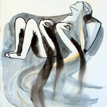 Despair 5, watercolor on paper, 8 by 6.5 in. Emilia Kallock 2016