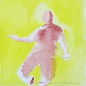 Despair 8, watercolor on paper, 8 by 6.5 in. Emilia Kallock 2016
