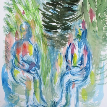 If You Could Have a Tree Planted In Your Honor What Would It Be?, watercolor on paper, 10 by 8 in. Emilia Kallock 2016