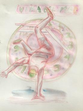 Viña Del Mar, watercolor on paper, 10 by 8 in. Emilia Kallock 2017
