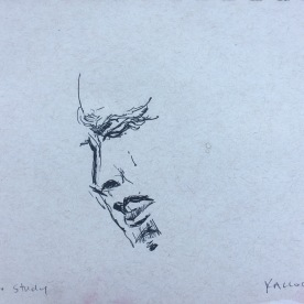 Study of N.'s Mouth, pen on paper, 4 by 5 in. Emilia Kallock 2017