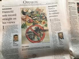 Organic Cartoon in Stanwood Camano News